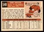 1959 Topps #548  Elmer Singleton  Back Thumbnail
