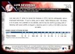 2016 Topps #265  Luis Severino  Back Thumbnail