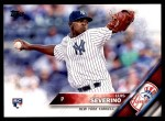 2016 Topps #265  Luis Severino  Front Thumbnail