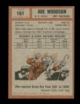 1962 Topps #161  Abe Woodson  Back Thumbnail