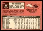 1969 Topps #580  Jim Northrup  Back Thumbnail