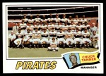 1977 Topps #354   -  Chuck Tanner Pirates Team Checklist Front Thumbnail