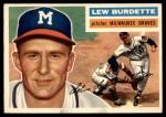 1956 Topps #219  Lew Burdette  Front Thumbnail
