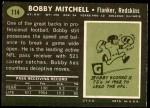 1969 Topps #114  Bobby Mitchell  Back Thumbnail