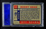 1957 Topps Hit Stars #33  Buddy Knox   Back Thumbnail