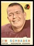 1959 Topps #134  Jim Schrader  Front Thumbnail
