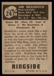 1951 Topps Ringside #24  James J. Braddock  Back Thumbnail