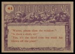1959 You'll Die Laughing #41   Did you say there was Back Thumbnail