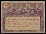1959 You'll Die Laughing #35   Watch the birdie! Back Thumbnail