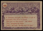 1959 Topps / Bubbles Inc You'll Die Laughing #66   This photographer Back Thumbnail