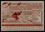 1958 Topps #380  Charley Maxwell  Back Thumbnail