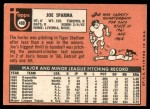 1969 Topps #488  Joe Sparma  Back Thumbnail