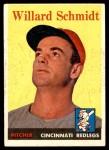 1958 Topps #214  Willard Schmidt  Front Thumbnail