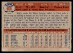 1957 Topps #65  Wally Moon  Back Thumbnail