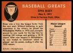 1961 Fleer #71  Eppa Rixey  Back Thumbnail