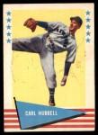 1961 Fleer #45  Carl Hubbell  Front Thumbnail