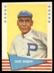 1961 Fleer #8  Chief Bender  Front Thumbnail