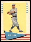 1961 Fleer #12  Max Carey  Front Thumbnail