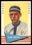 1961 Fleer #36  Clark Griffith  Front Thumbnail