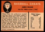1961 Fleer #88  Jimmy Wilson  Back Thumbnail