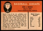 1961 Fleer #72  Eddie Roush  Back Thumbnail