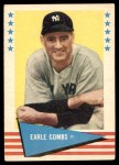 1961 Fleer #17  Earle Combs  Front Thumbnail