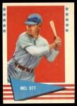 1961 Fleer #68  Mel Ott  Front Thumbnail