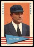1961 Fleer #22  Billy Evans  Front Thumbnail