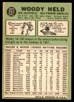 1967 Topps #251  Woodie Held  Back Thumbnail