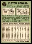 1967 Topps #25  Elston Howard  Back Thumbnail