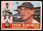 1960 Topps #56  Steve Korcheck  Front Thumbnail