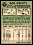1967 Topps #26 xTR Bob Priddy  Back Thumbnail