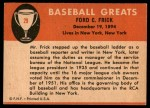 1961 Fleer #29  Ford Frick  Back Thumbnail