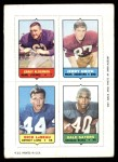 1969 Topps 4-in-1 Football Stamps  Grady Alderman / Jerry Smith / Dick LeBeau / Gale Sayers  Front Thumbnail