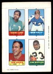 1969 Topps 4-in-1 Football Stamps  Israel Lang / Bob Lilly / John Brodie / Jim Butler  Front Thumbnail