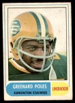 1968 O-Pee-Chee #117   -  Greenard Poles   Front Thumbnail