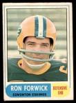 1968 O-Pee-Chee #113   -  Ron Forwick   Front Thumbnail
