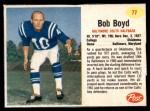 1962 Post Cereal #77  Bob Boyd  Front Thumbnail