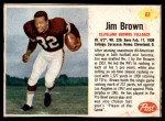 1962 Post Cereal #61  Jim Brown  Front Thumbnail