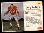 1962 Post Cereal #99  Jerry Mertens  Front Thumbnail