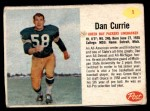 1962 Post Cereal #1  Dan Currie  Front Thumbnail