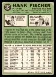 1967 Topps #342  Hank Fischer  Back Thumbnail