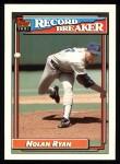 1992 Topps #4   -  Nolan Ryan Record Breaker Front Thumbnail