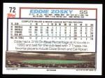 1992 Topps #72  Eddie Zosky  Back Thumbnail