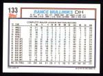 1992 Topps #133  Rance Mulliniks  Back Thumbnail