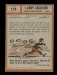 1962 Topps #174  Leroy Jackson  Back Thumbnail