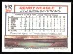 1992 Topps #592  Denny Neagle  Back Thumbnail
