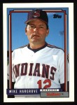 1992 Topps #609  Mike Hargrove  Front Thumbnail
