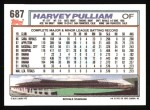 1992 Topps #687  Harvey Pulliam  Back Thumbnail