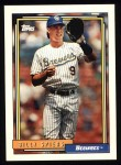 1992 Topps #742  Bill Spiers  Front Thumbnail